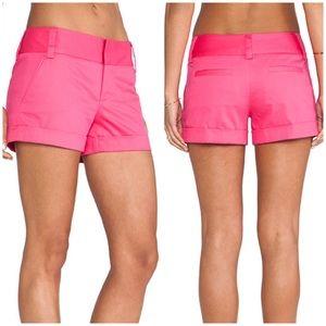 NWT Alice + Olivia Cady Shorts Pink 4 cuffed
